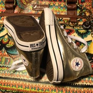 New Gold Converse Sneakers